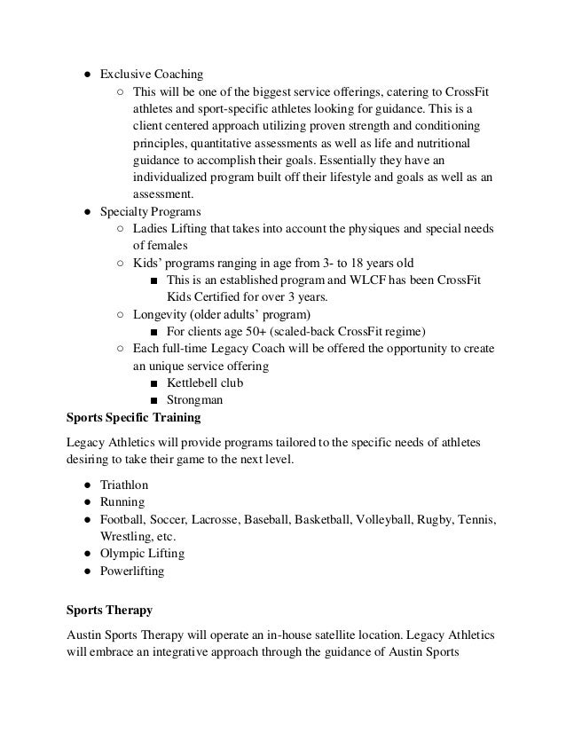 Gym House Business Plan – Executive Summary Sample