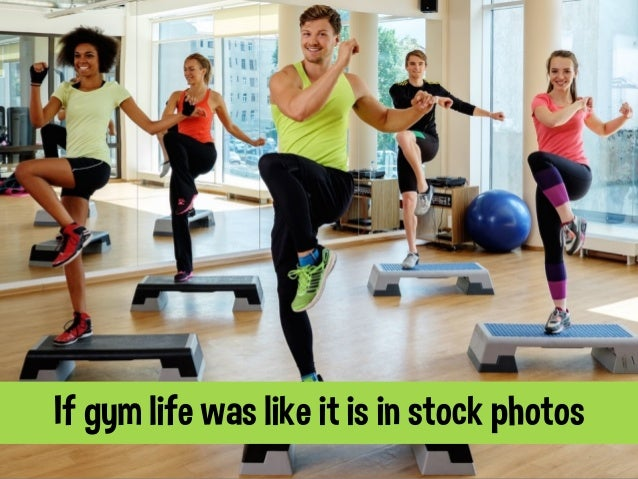 If gym life was like it is in stock photos