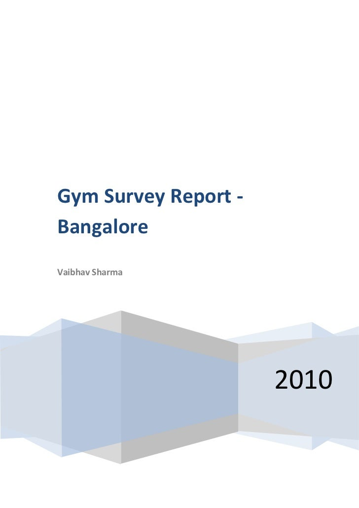 Health and Fitness Survey