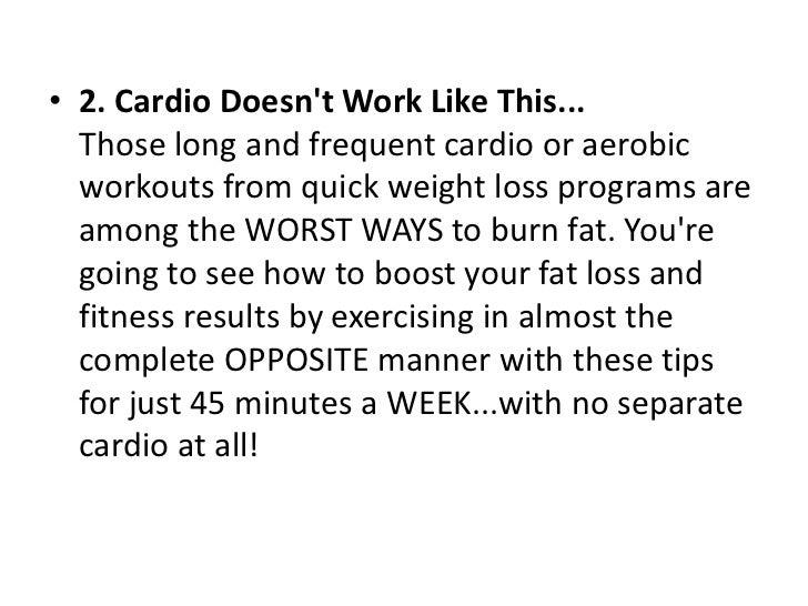 Start burning fat now