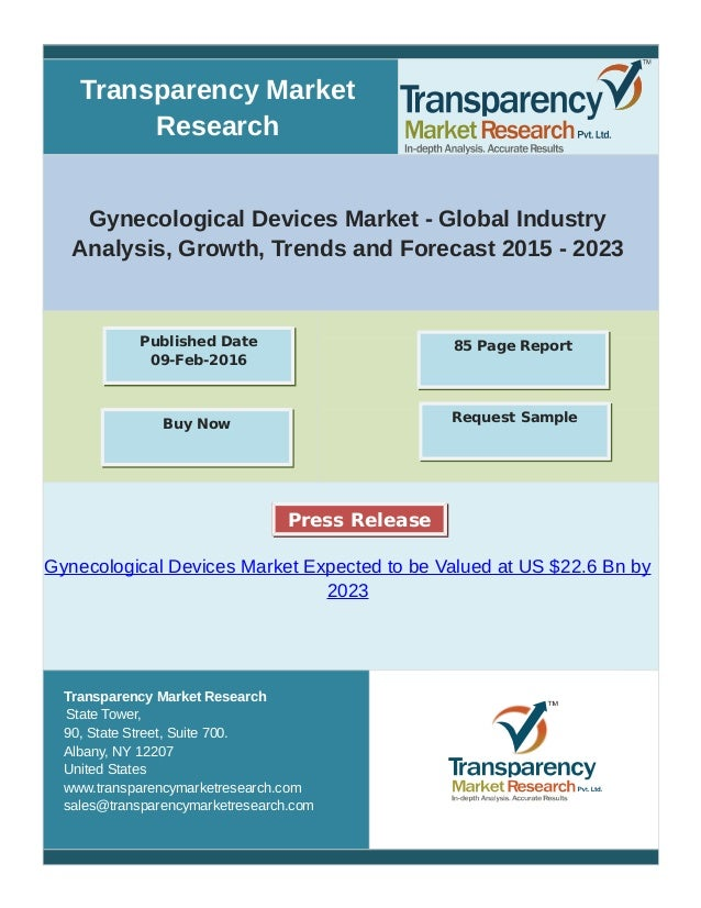 Transparency Market Research Gynecological Devices Market - Global Industry Analysis, Growth, Trends and Forecast 2015 - 2...