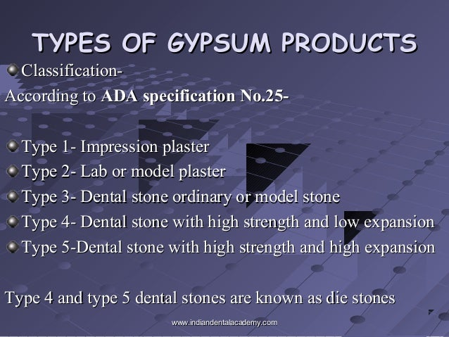Types Of Gypsum ~ Gypsum dental lab technology courses