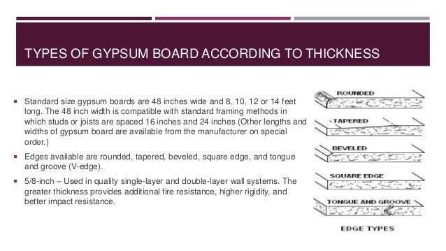 Types Of Gypsum Board : Gypsum