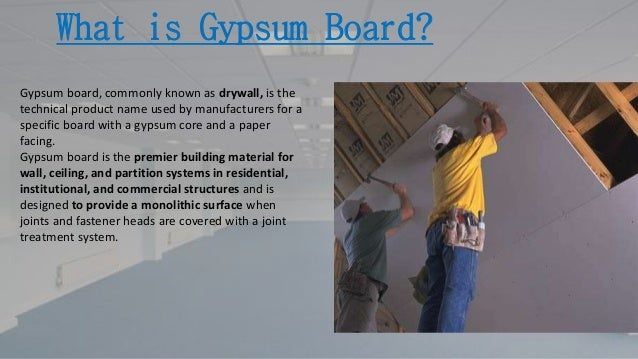 Gypsum Core Board ~ Gypsum board