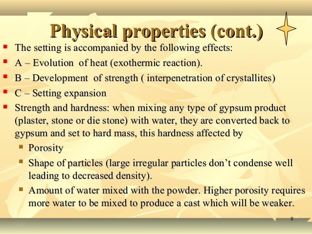 Physical And Chemical Properties Of Gypsum