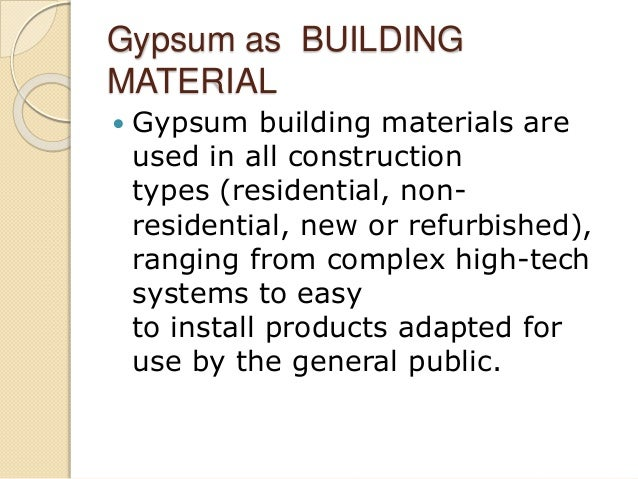 Gypsum and rubber use in building construction