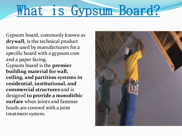 Gypsum As A Costruction Material