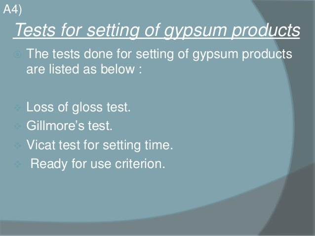 gypsum products in dentistry pdf