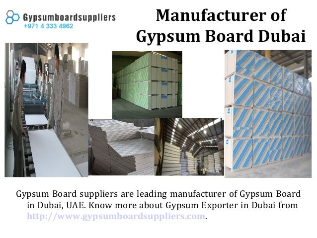 Manufacturer Of Gypsum Board Dubai