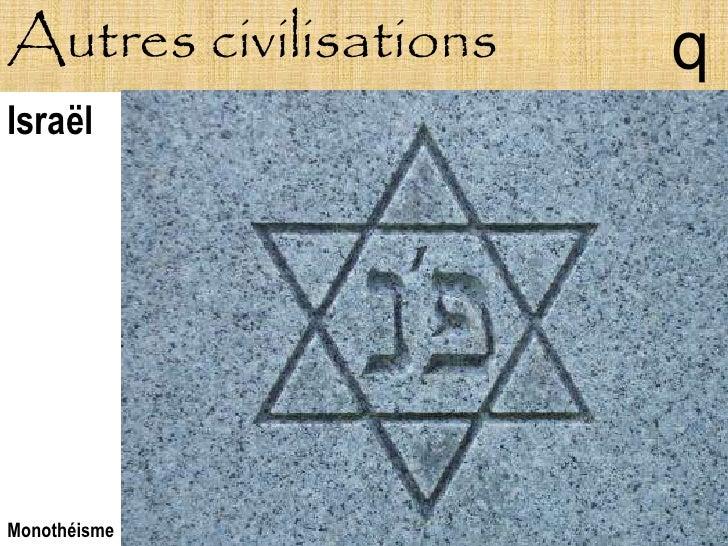 Autres civilisations   q Israël     Monothéisme