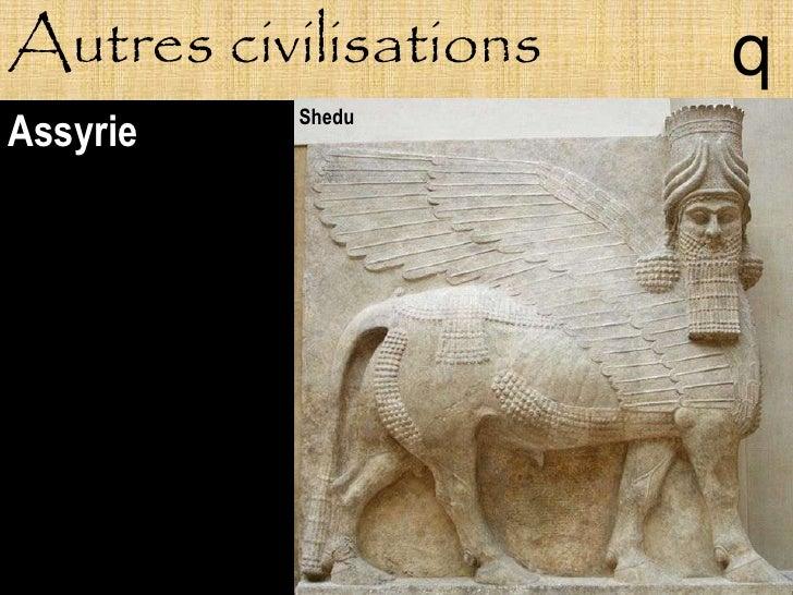 Autres civilisations   q           Shedu Assyrie
