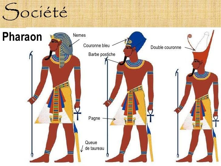 Société Pharaon   Nemes                Couronne bleu        Double couronne                   Barbe postiche              ...
