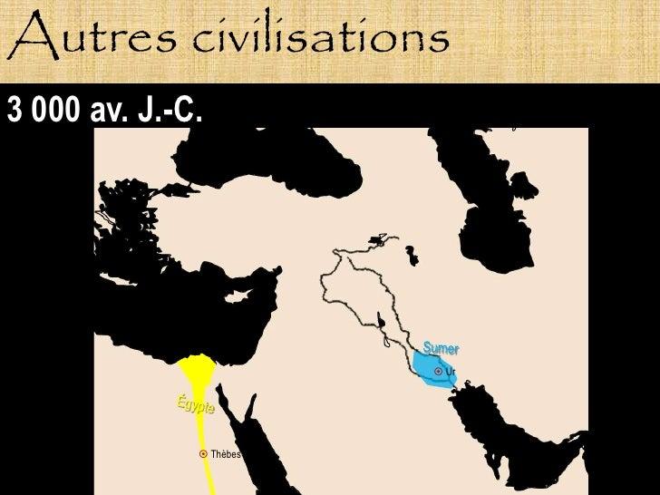 Autres civilisations 3 000 av. J.-C.                               Ur                    Thèbes