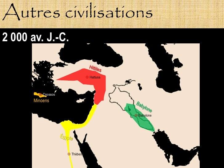 Autres civilisations 2 000 av. J.-C.                                   Hattusa              Cnossos        Minoens      ...
