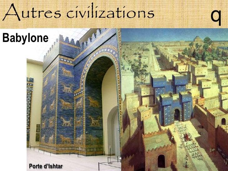 Autres civilizations   q Babylone         Porte d'Ishtar