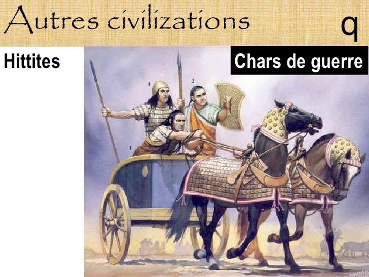 Autres civilizations          q Hittites          Chars de guerre