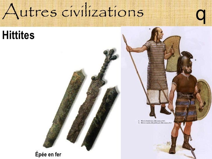 Autres civilizations     q Hittites                Épée en fer