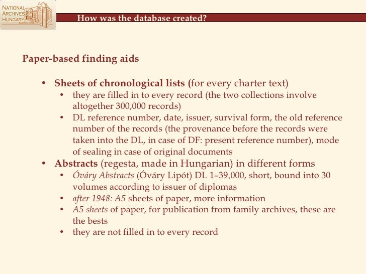 The Hungarian National Archives' online portal on medieval