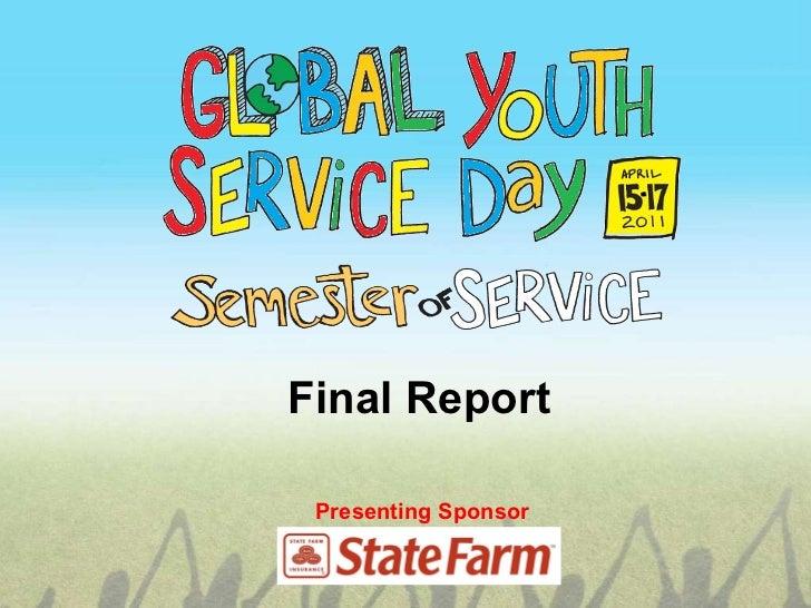Presenting Sponsor Final Report