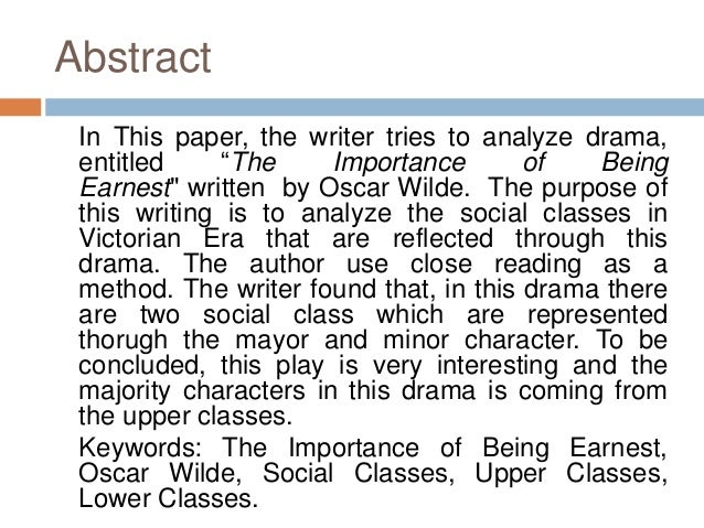 social classes analysis in victorian era reflected on oscar wilde s p  social classes analysis in victorian era reflected on oscar wilde s play the importance of being earnest