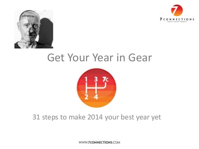 Get Your Year in Gear  31 steps to make 2014 your best year yet