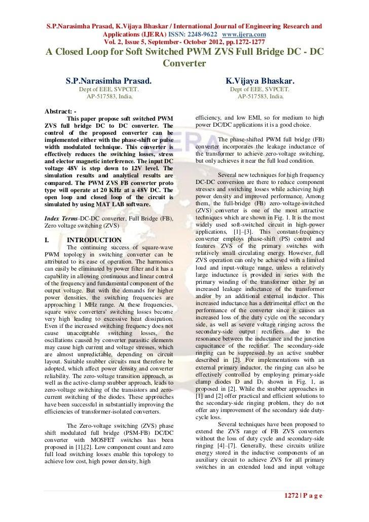 S.P.Narasimha Prasad, K.Vijaya Bhaskar / International Journal of Engineering Research and                 Applications (I...
