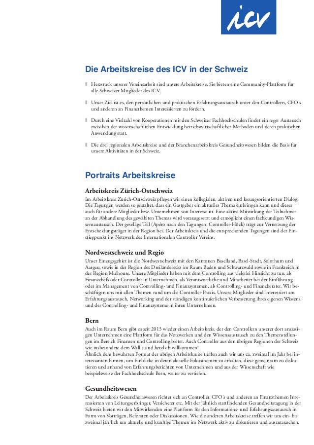 Die Arbeitskreise des ICV in der Schweiz z Herzstück unserer Vereinsarbeit sind unsere Arbeitskreise. Sie bieten eine Comm...