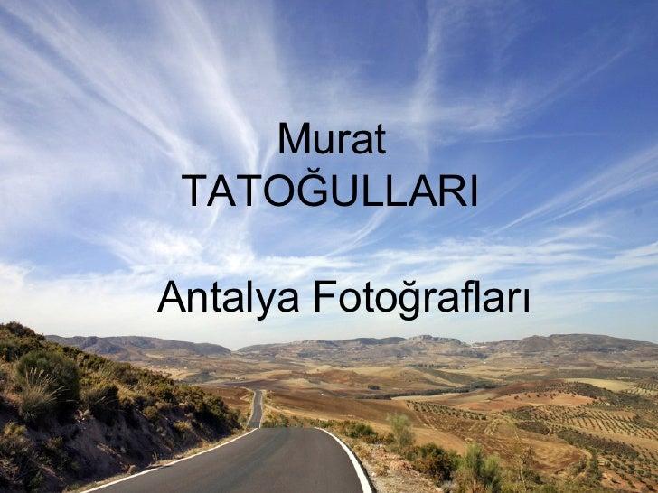 Murat    TATOĞULLARI Antalya Fotoğrafları