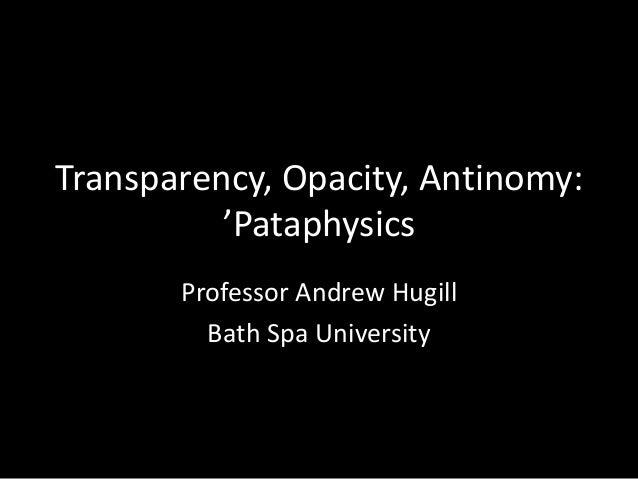 Andrew Hugill Bath Spa