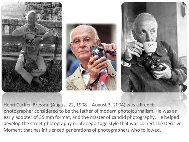 Henri Cartier-Bresson (August 22, 1908 – August 3, 2004) was a French photographer considered to be the father of modern p...