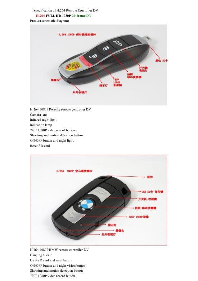 h 264 1080 p porsche benz bmw remote controller dv hd car key spy cam rh slideshare net BMW Schematic Diagram BMW Z4 Wiring-Diagram