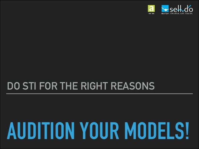 AUDITION YOUR MODELS! KEEP AN EYE ON DOCUMENTS SIZE