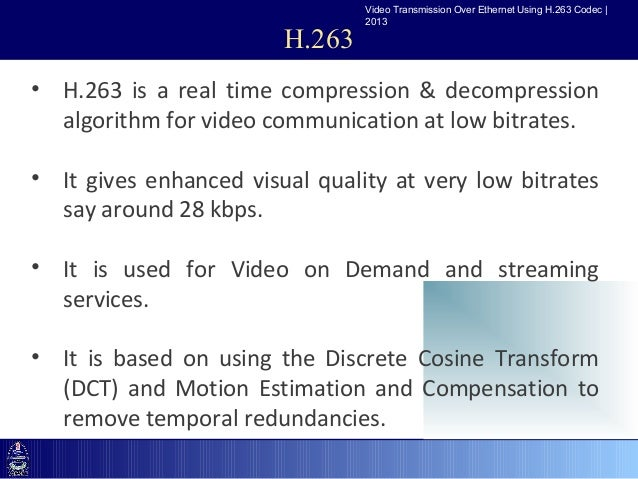 8 Video Transmission Over Ethernet Using H263: H 263 Block Diagram At Johnprice.co
