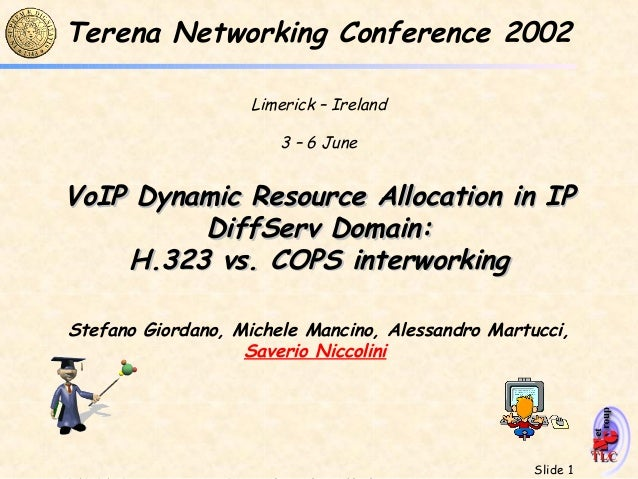 Terena Networking Conference 2002                    Limerick – Ireland                       3 – 6 JuneVoIP Dynamic Resou...