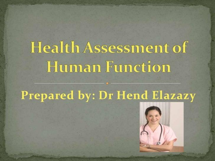 Prepared by: Dr Hend Elazazy