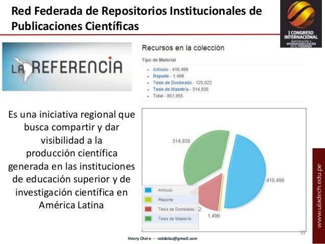 Henry Chero – reddolac@gmail.com Red Federada de Repositorios Institucionales de Publicaciones Científicas Es una iniciati...