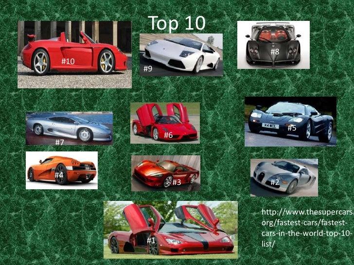 Top 10 <br />#8<br />#10<br />#9<br />#5<br />#6<br />#7<br />#4<br />#3<br />#2<br />http://www.thesupercars.org/fastest-...