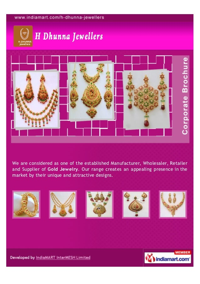 We are considered as one of the established Manufacturer, Wholesaler, Retailerand Supplier of Gold Jewelry. Our range crea...