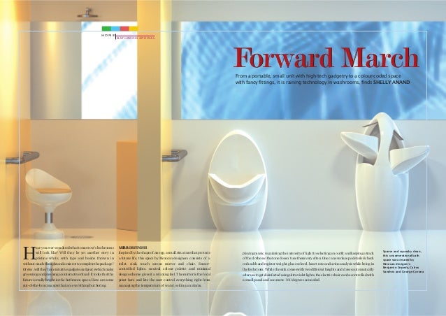 ... India Today Home Magazine. HOME BATHROOM SPECIAL Forward March From A  Portable, Small Unit With High Tech Gadgetry ...