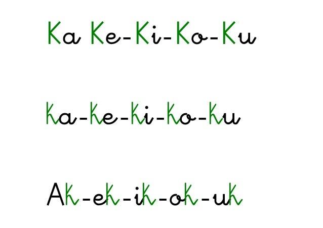 Ka Ke-Ki-Ko-Ku ka-ke-ki-ko-ku Ak-ek-ik-ok-uk