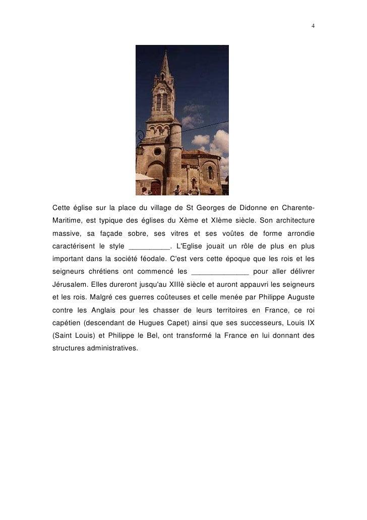 4     Cette église sur la place du village de St Georges de Didonne en Charente- Maritime, est typique des églises du Xème...