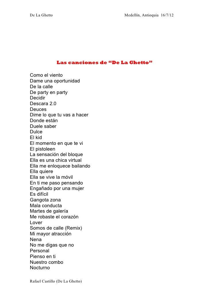 """De La Ghetto                        Medellín, Antioquia 16/7/12               Las canciones de """"De La Ghetto""""Como el vient..."""