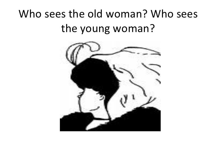 old woman and young