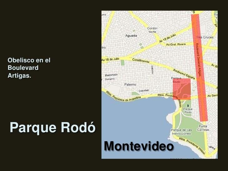 Obelisco en el Boulevard Artigas.<br />Parque Rodó<br />Montevideo<br />