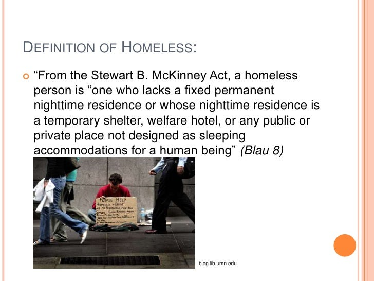 homeless essay thesis Essay: the new face of homelessness families are the fastest growing segment of the homeless population.
