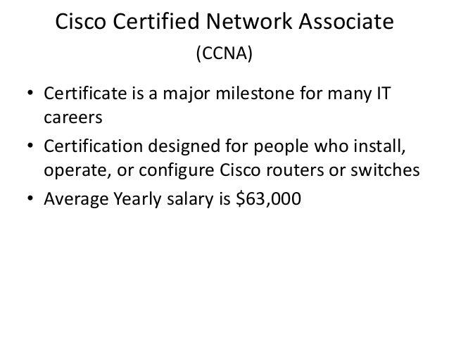 Ccna Certification Job Salary