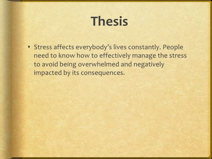 Thesis on anxiety