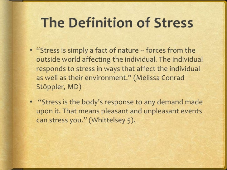 Thesis stress management