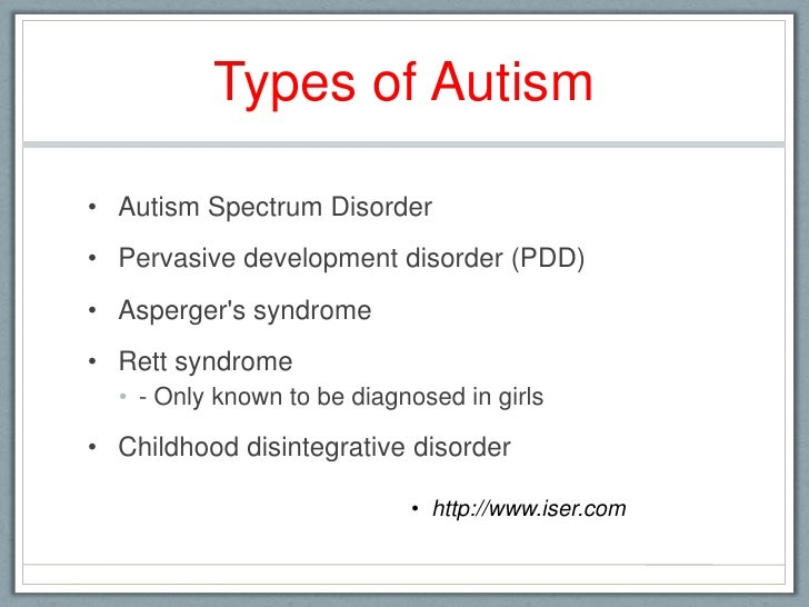Master's thesis on autism