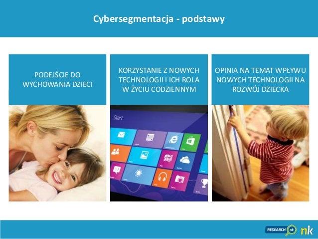 19Cybersegmentacja - podstawyOPINIA NA TEMAT WPŁYWUNOWYCH TECHNOLOGII NAROZWÓJ DZIECKAKORZYSTANIE Z NOWYCHTECHNOLOGII I IC...